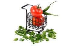 Pomidory i Chillies Obraz Stock