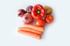 Pomidory i czerwony dzwonkowy pieprz Zdjęcia Royalty Free