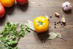 Pomidory i ziele Obrazy Stock