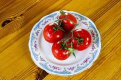 Pomidory na talerzu Zdjęcie Royalty Free