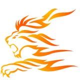 płomienia lew Fotografia Stock