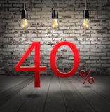 pomija 40 procentów daleko z tekst specjalną ofertą wewnątrz twój rabat ilustracji