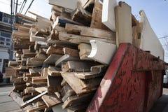 Pominięcie ładujący z starym drewnem Zdjęcia Royalty Free