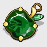 Pomme accessoire faite de pierres précieuses verte Images stock