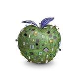 Pomme actionnée solaire de données Image stock