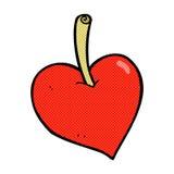 pomme comique de coeur d'amour de bande dessinée Photos libres de droits