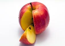 Pomme coupée en tranches Photographie stock libre de droits