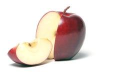 Pomme coupée en tranches Photos stock