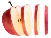 Pomme coupée en tranches Images stock