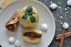 Pomme cuite au four Photographie stock