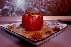 Pomme cuite au four Images libres de droits