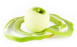 Pomme décortiquée photographie stock libre de droits