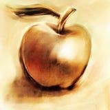 Pomme d'or desserré peinte Illustration Stock