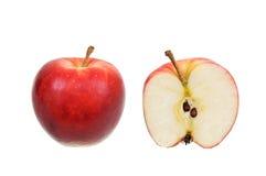 pomme d'isolement au-dessus du blanc rouge Images libres de droits