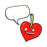 pomme de coeur d'amour de bande dessinée avec la bulle de la parole Image libre de droits