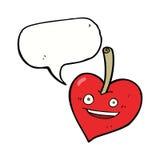pomme de coeur d'amour de bande dessinée avec la bulle de la parole Images libres de droits