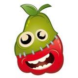 Pomme de dessin animé et fruit de poire Image stock