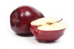 Pomme de deux rouges Images stock