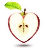 Pomme de forme de coeur Photos stock