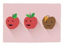 Pomme de putréfaction Photo stock