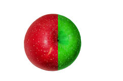 Pomme de Red&green Image libre de droits