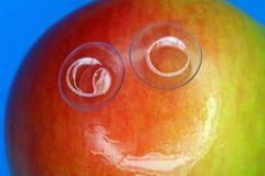 Pomme de sourire Image stock