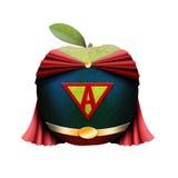 Pomme de Superman Photographie stock libre de droits