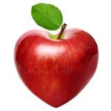 Pomme de symbole de coeur Image libre de droits