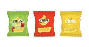 Pomme de terre Chips Bags illustration de vecteur