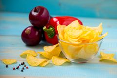 Pomme de terre Chips Homemade photos stock