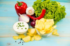 Pomme de terre Chips Homemade Images libres de droits
