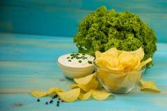 Pomme de terre Chips Homemade Photos libres de droits