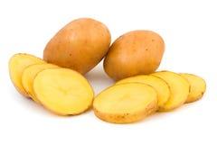 Pomme de terre coupée Photo stock