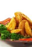 Pomme de terre cuite à la friteuse image libre de droits