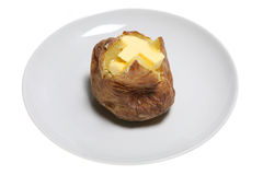 Pomme de terre en robe de chambre de fromage photo stock - Pomme de terre en robe de chambre au four ...