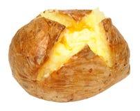 Pomme de terre en robe de chambre cuite au four avec du beurre sur le blanc image stock image - Conservation pomme de terre cuite ...