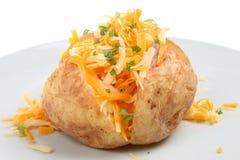 Pomme de terre cuite au four avec du fromage Photographie stock libre de droits