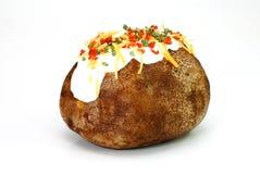 Pomme de terre cuite au four chargée Image libre de droits