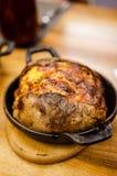 Pomme de terre cuite au four par style américain Photo stock