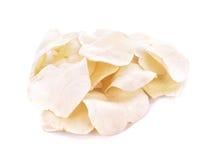 Pomme de terre d'Arloo et x28 ; arloo& x29 de mun ; frites d'isolement sur le fond blanc Photographie stock libre de droits