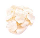 Pomme de terre d'Arloo et x28 ; arloo& x29 de mun ; frites d'isolement sur le fond blanc Photo stock