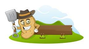 Pomme de terre de fermier Images stock
