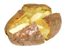 Pomme de terre en robe de chambre cuite au four Photo stock