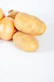Pomme de terre et oignon Images stock