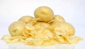 Pomme de terre et pommes chips Photos stock