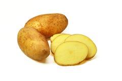 Pomme de terre fraîche d'isolement sur le blanc Photo libre de droits