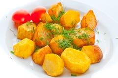 Pomme de terre frite avec le fenouil images libres de droits