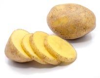 Pomme de terre sur le blanc photo stock