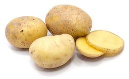 Pomme de terre sur le blanc photographie stock
