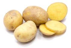 Pomme de terre sur le blanc image libre de droits